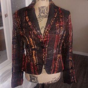 D R Sportswear Multicolored Womans Blazer